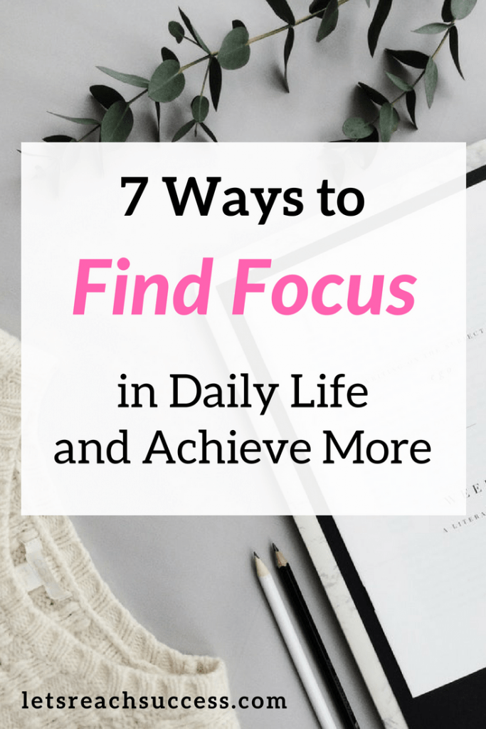 Distractions and our inability to concentrate on one thing at a time are stopping us from being productive. That's why we need to find focus in everyday life and do our best. Here are 7 great ways to do that and stop procrastinating: #focus #productivity