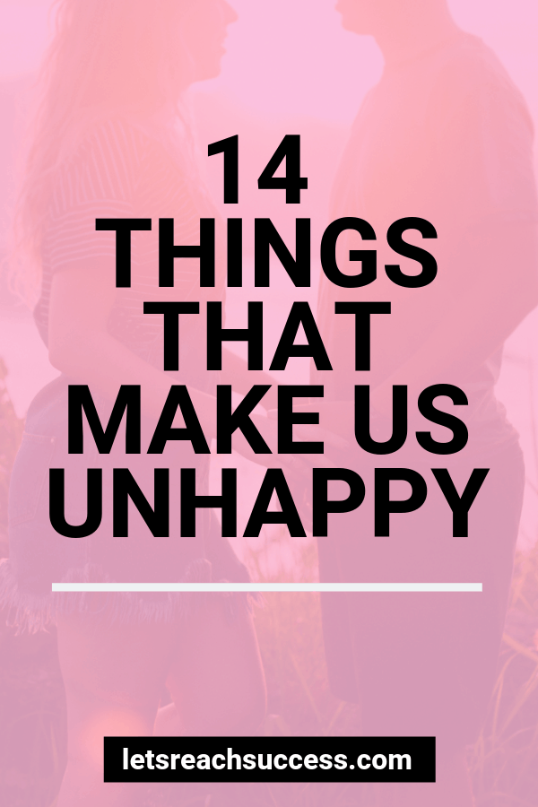 Happiness is a choice we make daily. So is being unhappy. Check out 14 things we do that make us miserable, without us realizing. #howtobehappy #selfimprovement #findinghappiness #happiness #selflove #selfcare