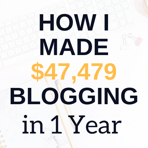 how i made 47k blogging in 1 year