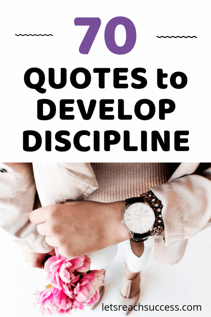 Check out 70 quotes on self-discipline, willpower and success. Let this be your discipline inspiration to take action. #quotes #discipline #inspiration #inspirationalquotes #motivationalquotes