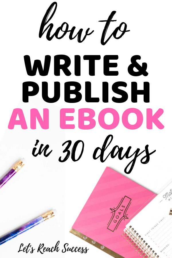 Want to self-publish an eBook to grow your blog income? If so, you can write and publish your first book in the next 30 days and start making money from it. Here are the exact steps: #howtowriteyourfirstbook #selfpublishonamazon #makemoneysellingbooks #howtoselfpublishabook