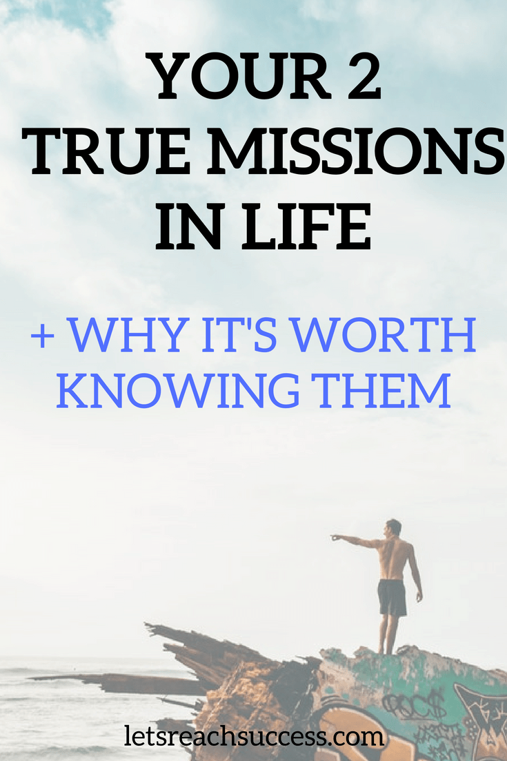 We're here for a reason. Too many people waste a lot of time trying to figure it out. Check out your 2 true missions in life. #purpose #lifeadvice