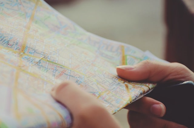 travel, map