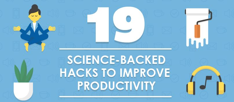 19 Science-Backed Productivity Hacks [Infographic] - letsreachsuccess.com