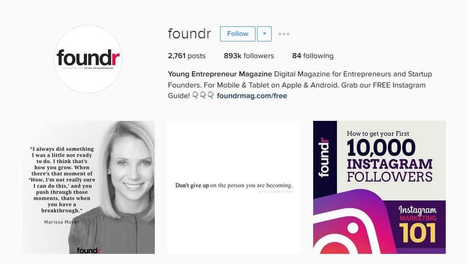 foundermag instagram strategy - letsreachsuccess.com