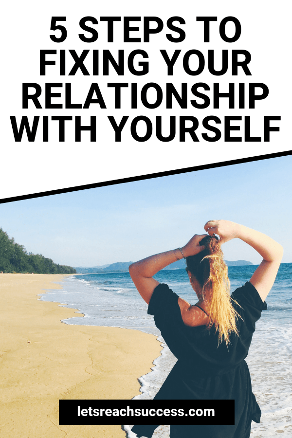 The relationship you have with yourself is the most important one in your life. Here's how to reconnect with your inner self again: #relationshiptips #relationshipadvice #selfcaretips #selflove #selfcare