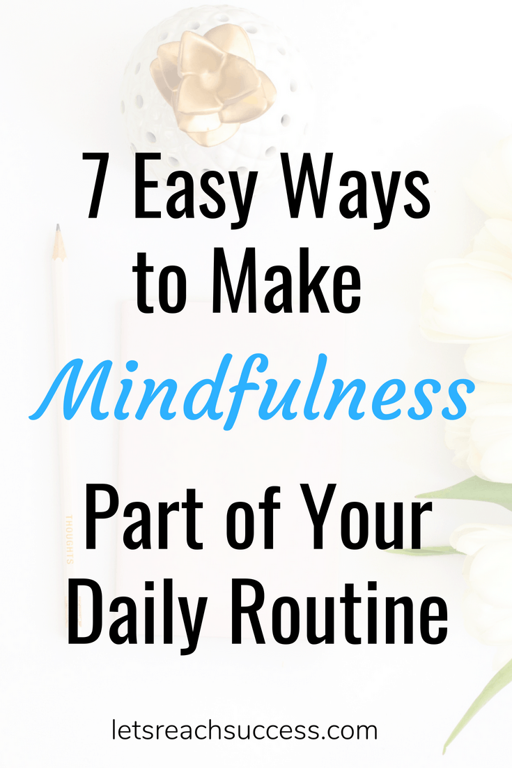 With a bit of practice, it is possible to make mindfulness part of your daily routine. Here are some ways to squeeze in some mini meditations #mindfulness #meditation #zen