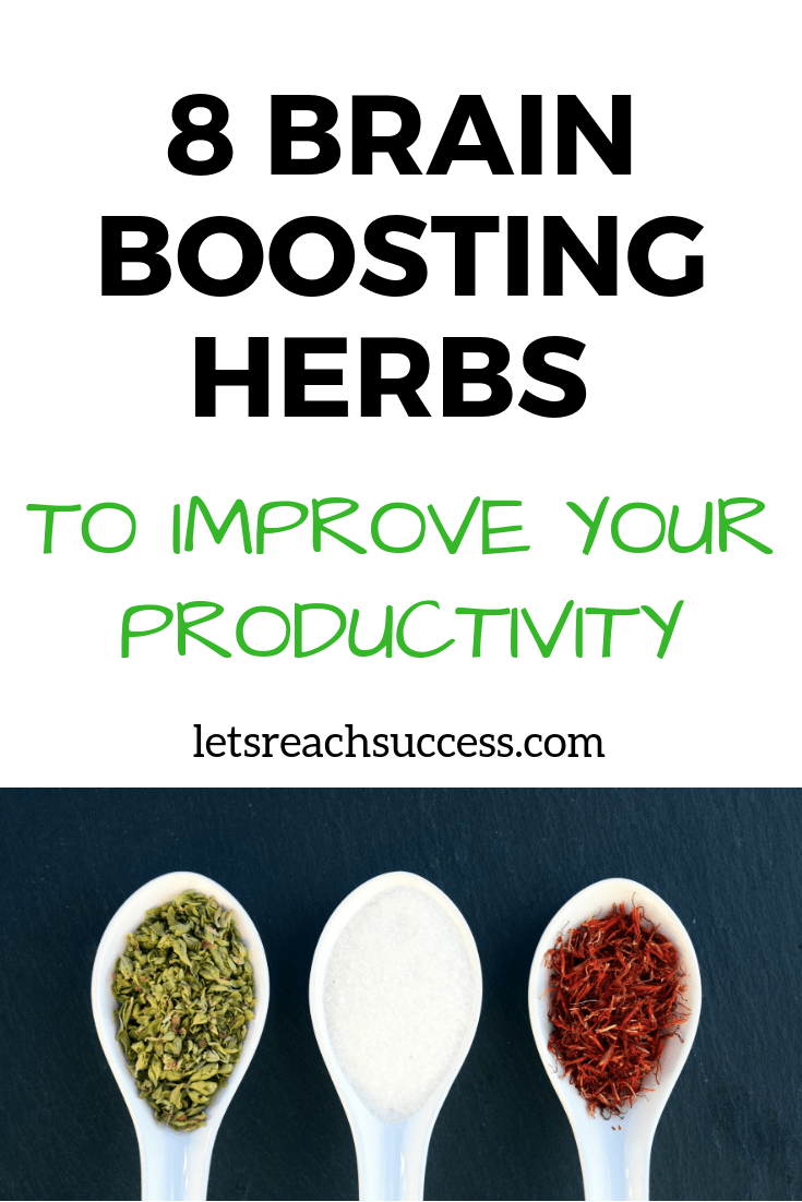 A healthy mind means a healthy body. Here are some brain boosting herbs to try out to increase productivity and enhance memory: #branpower #improvememory #herbs #healthy