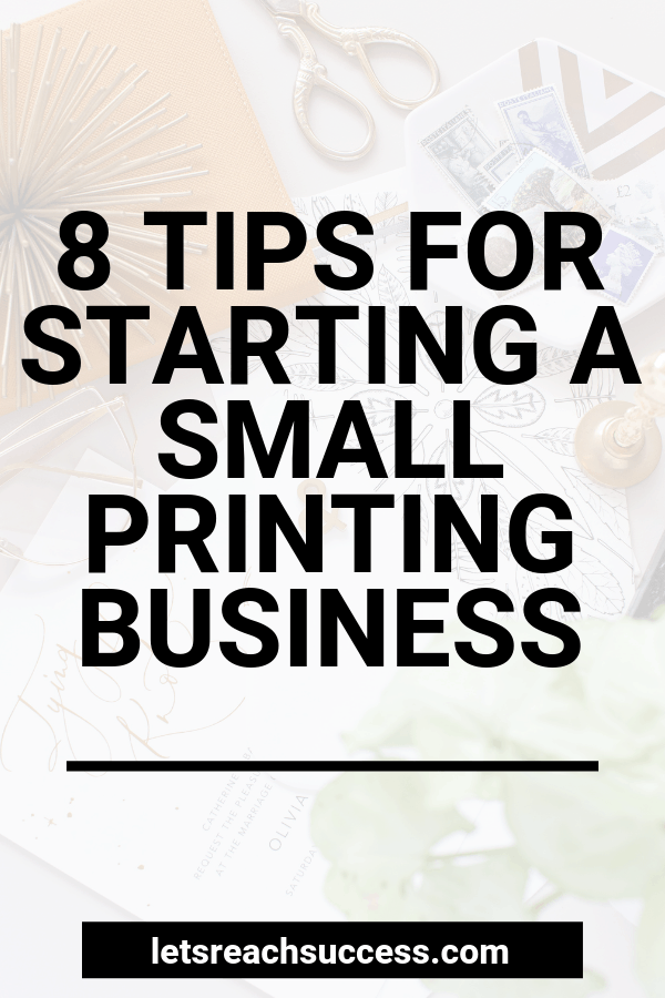 Want to start a printing business? Use one of these small printing business ideas to start a side hustle this weekend and make some extra money: #printingbusiness #businessideas #printingbusinessideas #startaprintingbusiness #sidehustleideas #startabusiness