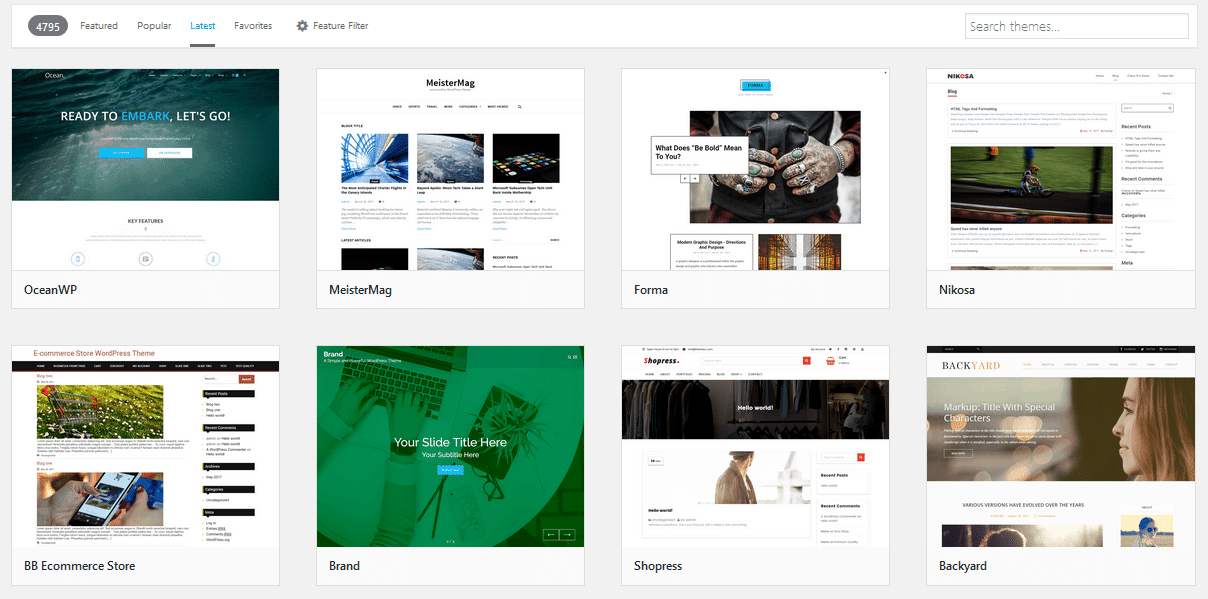 choose your first wordpress theme, bluehost tutorial