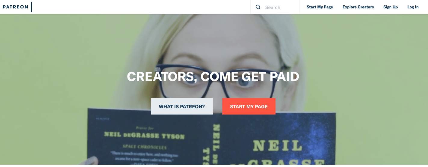 how to sign up for patreon, create a page, share your work, get patrons and make money