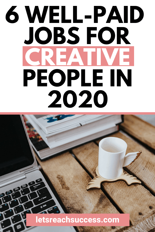 Want to get your creative juices flowing and get paid? You don't have to be a starving artist. Here are some well-paid jobs for creatives: #sidehustleideas #makemoneyonline #onlinejobsfromhome #workfromhomejobs #creativejobs #extraincome