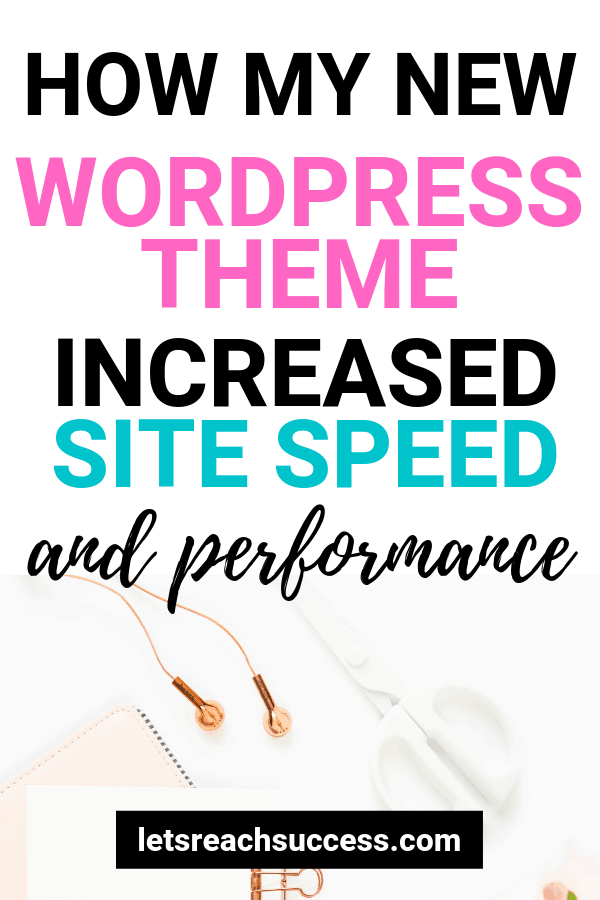 Learn what my new WordPress theme is, why I chose it, and how it boosted the speed and performance of the site right away: #wordpress #bloggingtips #wordpresstheme #sitespeed