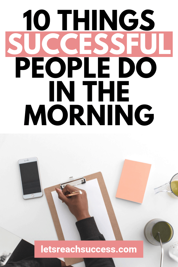 What can we do to reach the success of uber successful people? We can imitate their morning rituals. Here are 10 awesome tips: #successfulpeople #lifeadvice #healthyhabits #healthtips #mindset #habits #productivitytips #productivityhacks #morningritual