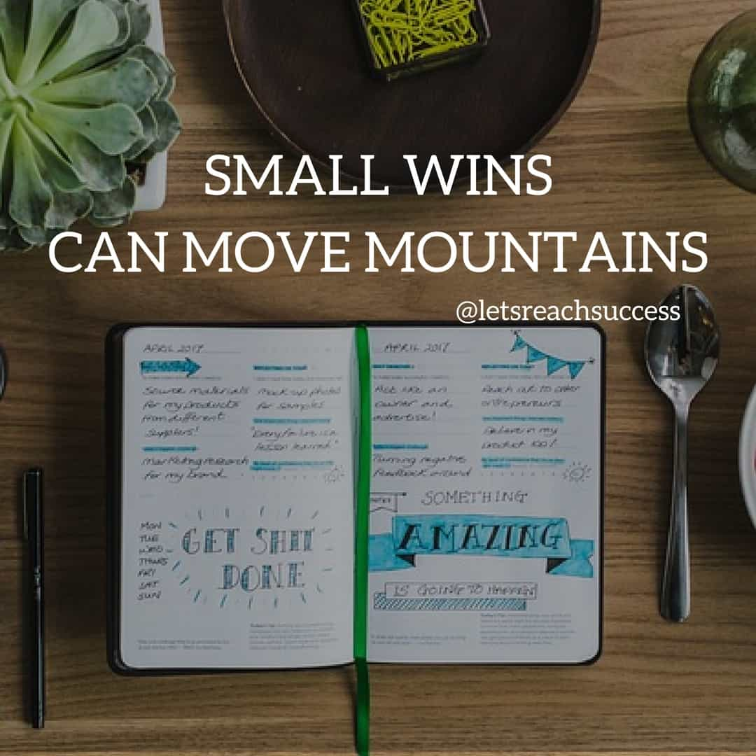 the power of small wins hustle quote