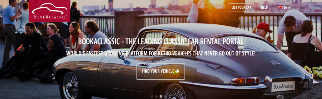 BookAclassic is the go-to source for anyone looking to rent a classic vehicle