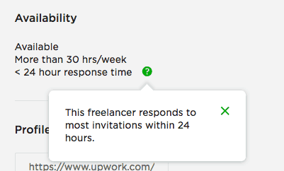 importance of response time on upwork