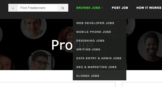 freelancemyway browse jobs