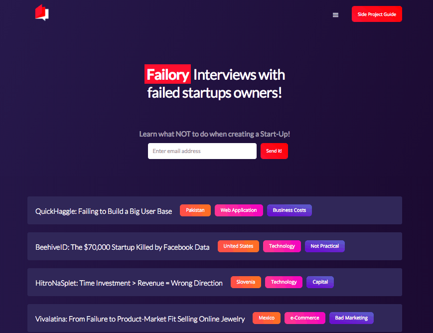 failory side project