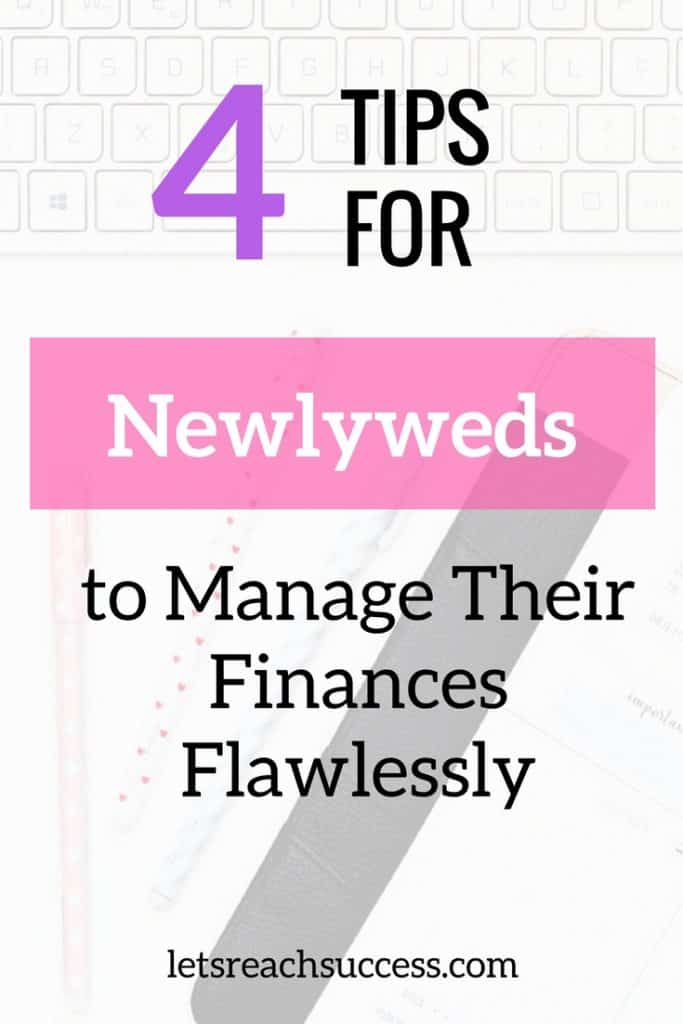 You and your partner need to discuss your habits when it comes to managing money. Once you are done with understanding each other's financial habits, you can figure out a suitable way to handle savings, expenses, budgeting, and more. Here are four great tips for newlyweds: #moneymanagement #newcouple #newlywed #moneytips