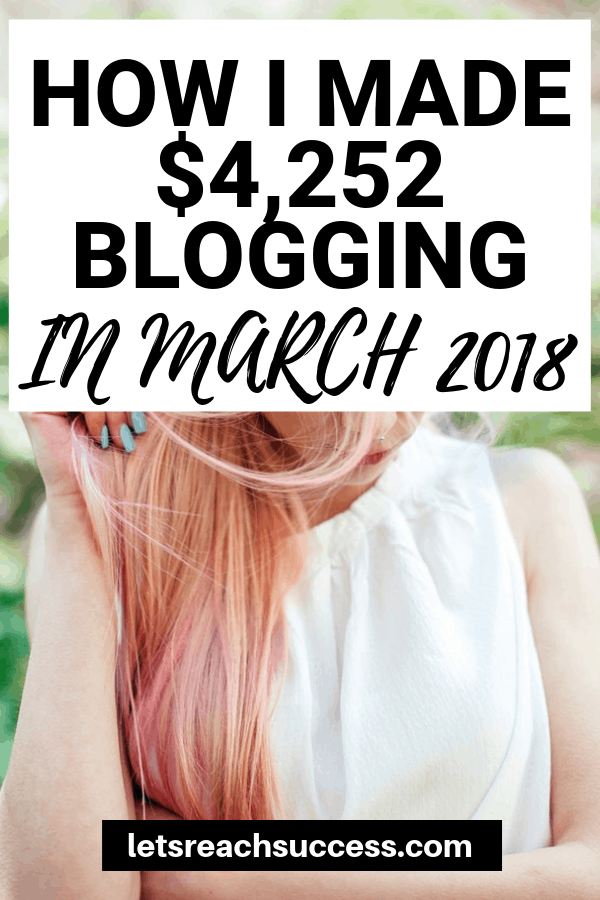 Curious how bloggers make money? Check out how this female blogger makes over $4,000 every month working from home: #blogincomereport #makemoneyblogging #sidehustle #workfromhome #sahm #makemoneyonline #bloggingtips