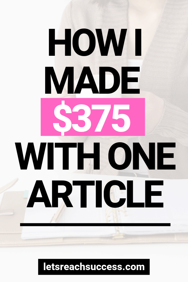 Just got paid nearly $400 for writing one article for a freelance client. Here's how and the platform I used so you too can get paid more: #getpaidtowrite #makemoneywriting #freelancing #workfromhome #makemoneyonline #makemoneyfreelancing