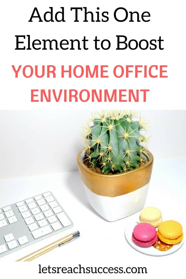 When you work from home, it's important to make your home office a place you want to spend time. Improving your workspace can significantly improve productivity. There is one simple element that can help you enhance your home office easily and affordably. And that's by introducing air purifying plants. #homeoffice #homeofficeideas #workfromhometips