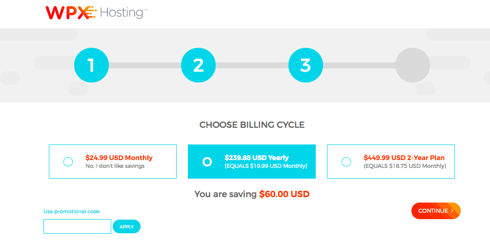 wpx hosting how to choose your billing cycle