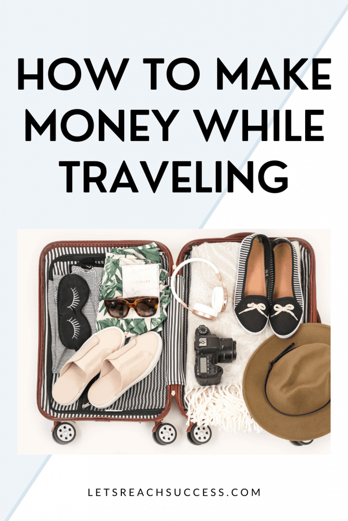 One of the challenges of being on the road is to make money while traveling. Here are 5 great ways: #makemoneytraveling #traveltips #travelandmakemoney #moneymakingideas #workwhiletraveling #travelbusinessideas