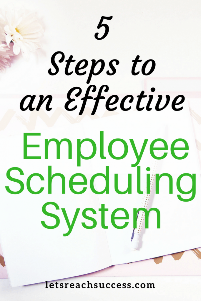Without an effective scheduling system, managers can quickly feel pressure. Here are 5 steps to ensure effective employee scheduling for your business. #employeescheduling