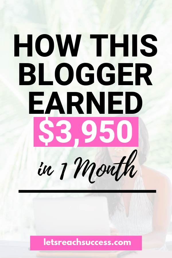 Want to make money blogging? Check out how this blogger earned nearly $4,000 in 1 month (+ exact numbers and income streams) and follow the same steps: #incomereport  #makemoneyblogging #makemoneyonline #bloggingtips #workfromhome #sidehustleideas