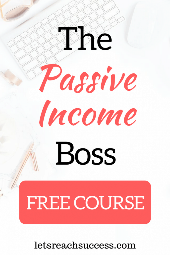 I believe in a simple solution to creating the ideal lifestyle -starting a blog, growing it, monetizing it strategically, and allowing it to earn passive income. That's what my new free course is about. Enter the Passive Income Boss: #passiveincome #freecourse #makemoneyblogging