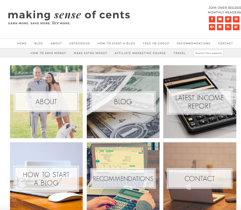 how michelle from making sense of cents makes over 100K/month