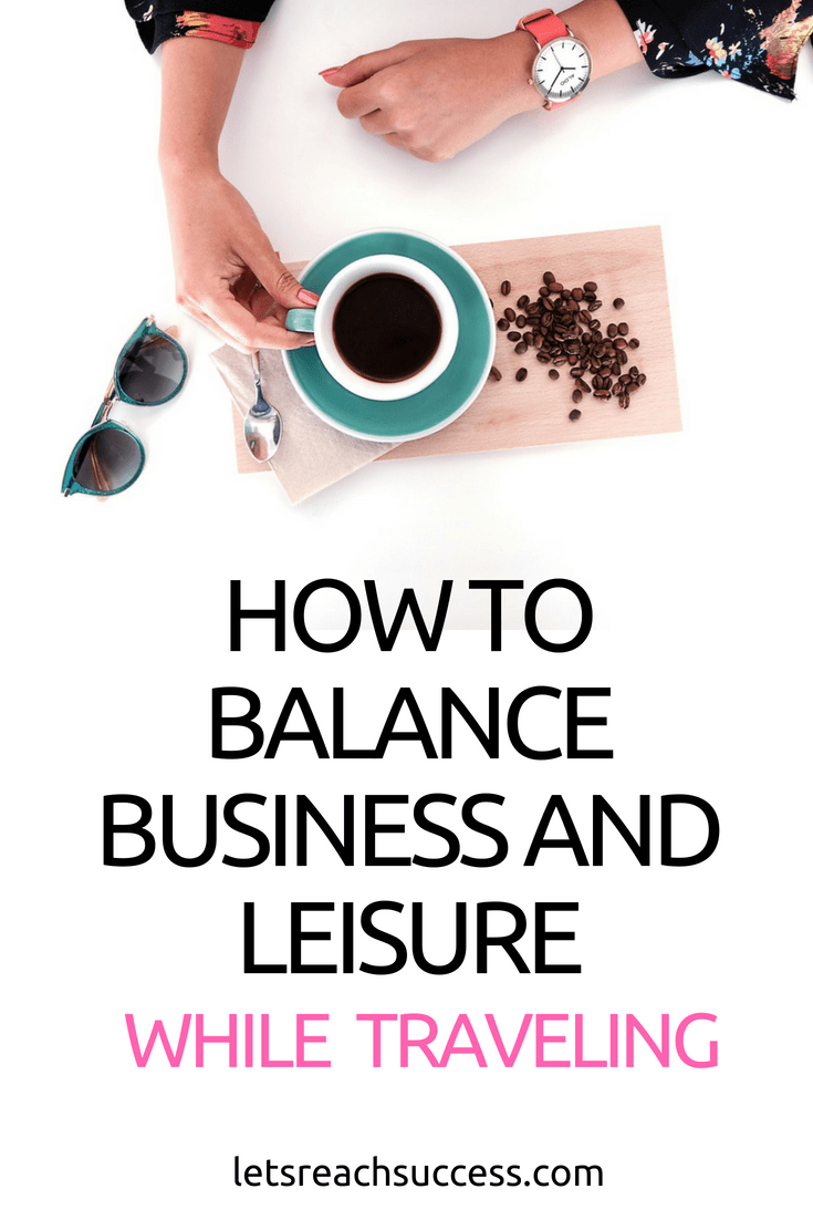 "Entrepreneurs and employees are always on the go. It can be hard to balance business and leisure while traveling. Here's how to do ""bleisure"" right: #businessandleisure #businesstrip #workandtravel #travelhacks"