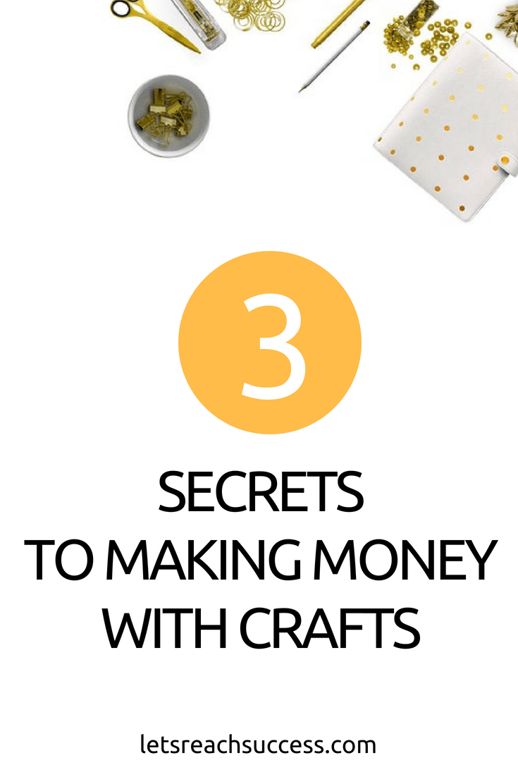 Tired of the nine-to-five grind? Then consider starting your own crafting business. Here's how to make money when selling crafts online: #crafts #makemoneyonline #onlineshop #sellingcraftsonline