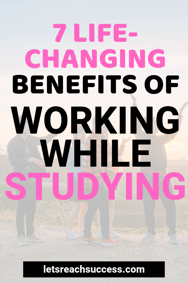 Wondering whether you should be working while studying? This guide will help you decide: #workingwhilestudying #workandstudy #collegetips #careertips #howtoworkandgotocollege