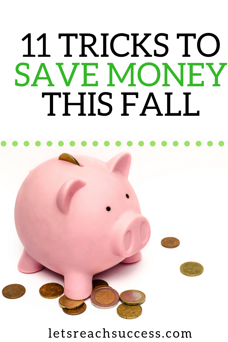 It's the little savings that help you pay down debt and achieve financial security. Here are some tricks to save money this fall: #moneysavingtips #savemoney #budgetfriendly