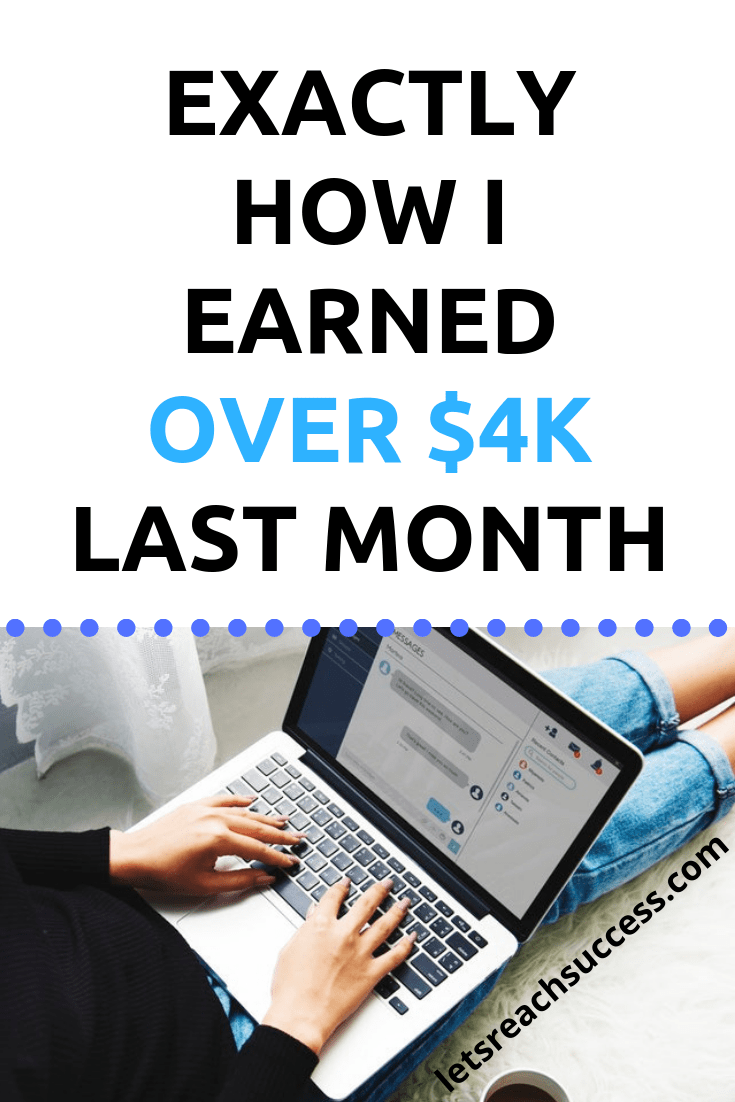 Check out my latest blog income report to see how I earned over $4,000 blogging in 1 month: #blogincomereport #blogincome #makemoneyblogging