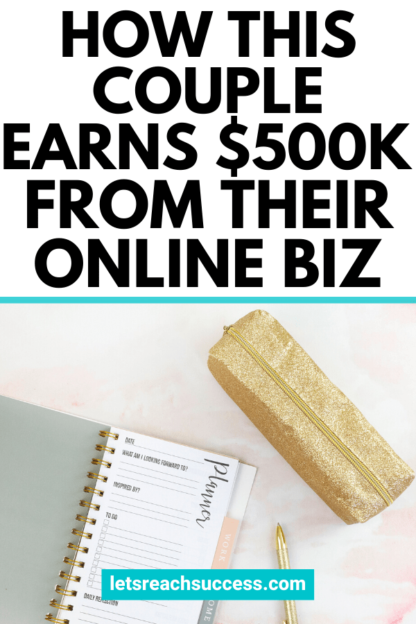 Jill and Josh from ScrewTheNinetoFive share how they turned their site into a real business, built a community and grew their income to $500K: #screwtheninetofive #howtomake500k #makemoneyblogging #sidehustleideas #sixfigureincome #moneymakingideas #startanonlinebusiness #makemoney