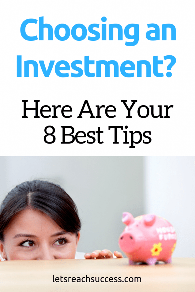 If you're investing for the first time, you may find it a bit intimidating. Here are some tips to help you choose an investment. #investing #investment #moneytips