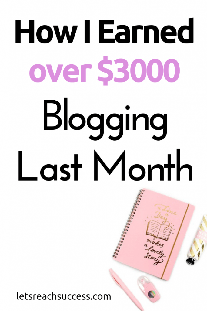 Check out how I earned over $3000 in one month blogging and working from home. I also share my plans for the new year. #blogincomereport #blogger #makemoneyblogging #2019goals