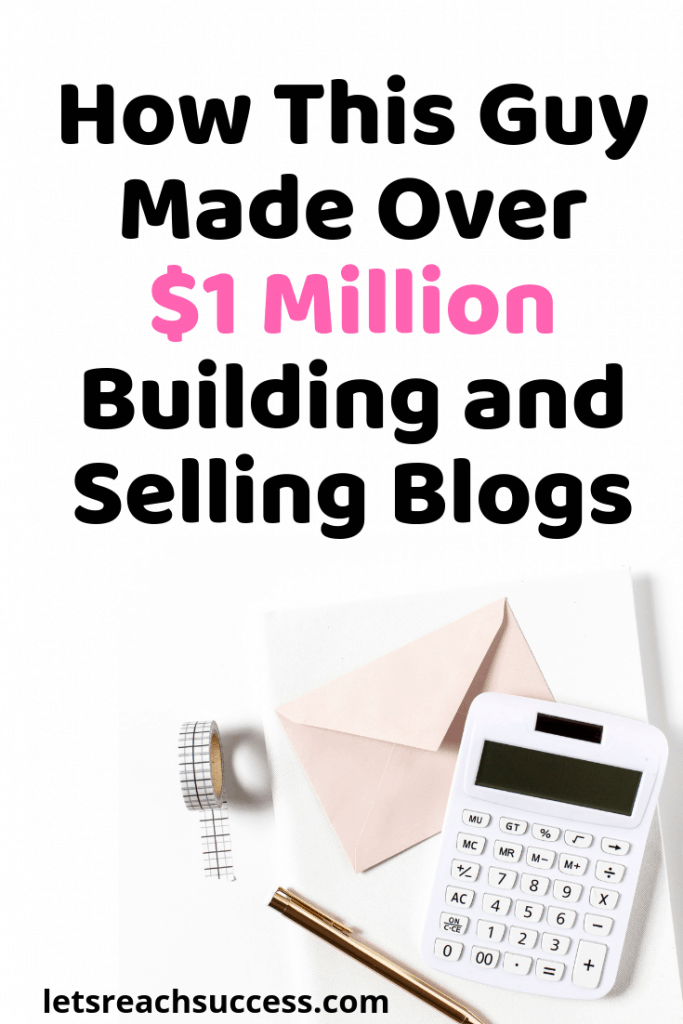 Marc has been making a living from his websites for over 10 years and has earned over $1 million blogging and selling sites. Here's how: #successstory #millionaire #makemoneyblogging #millionaireblogger #fulltimeblogger
