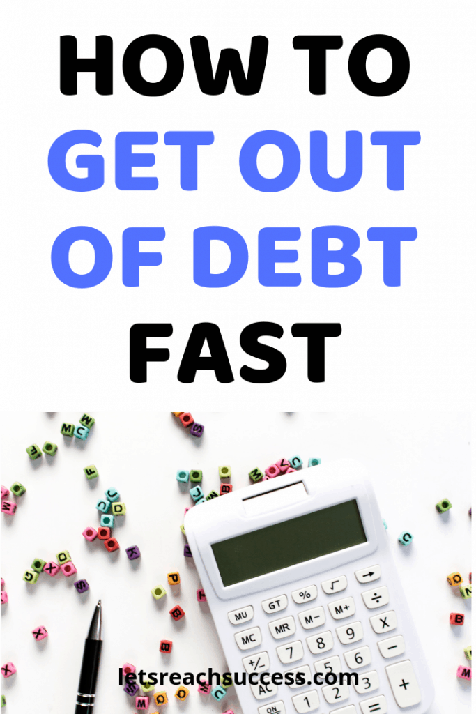 Want to know how to get out of debt fast? Here are 7 practical tips for living a debt-free life and managing your money better: #creditcarddebt #debtpayoff #getoutofdebt #debt #payoffdebt