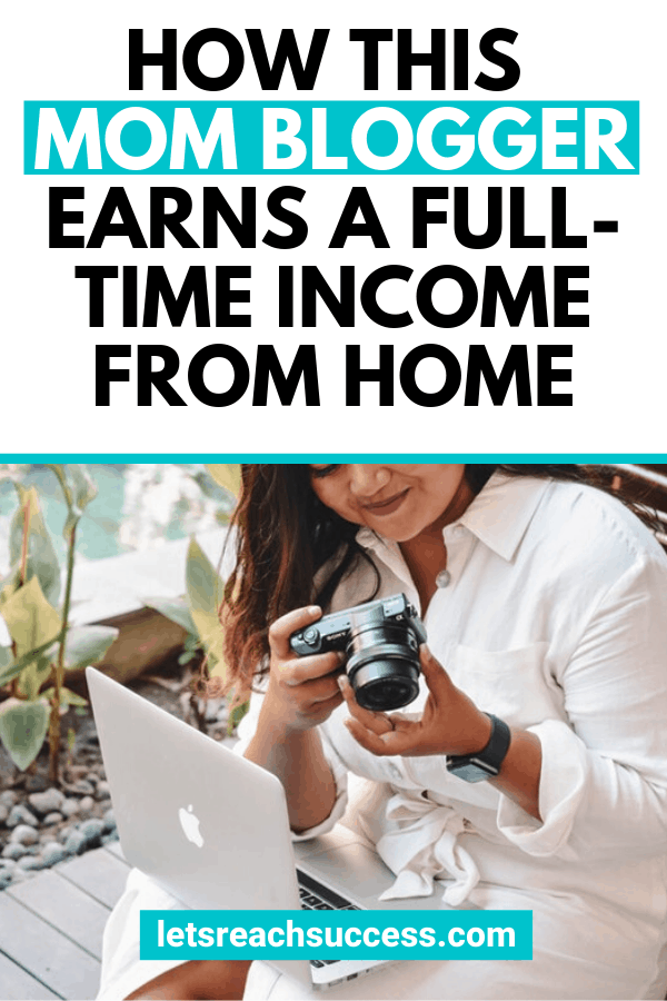 Learn how mom blogger McKinzie Bean from Moms Make Cents hustled on the side and now makes a full-time income from home blogging. #momblog #mombloggers #momsmakecents #pinteresttips #bloggingtips #makemoneyblogging