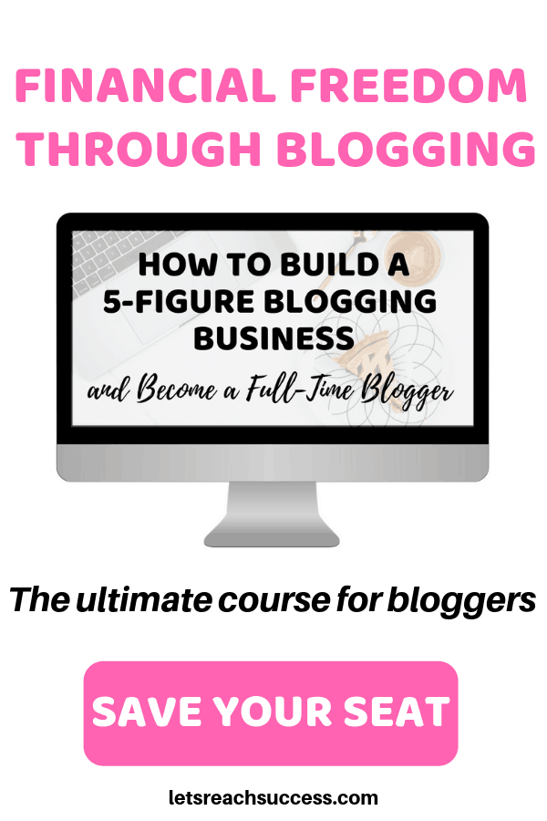Learn how to start a blog, make money blogging and build a 5-figure blogging business so you can free yourself from the 9 to 5 and work from home: #makemoneybloggingforbeginners #blogcourse #bloggingforbeginners #advancedbloggingtips