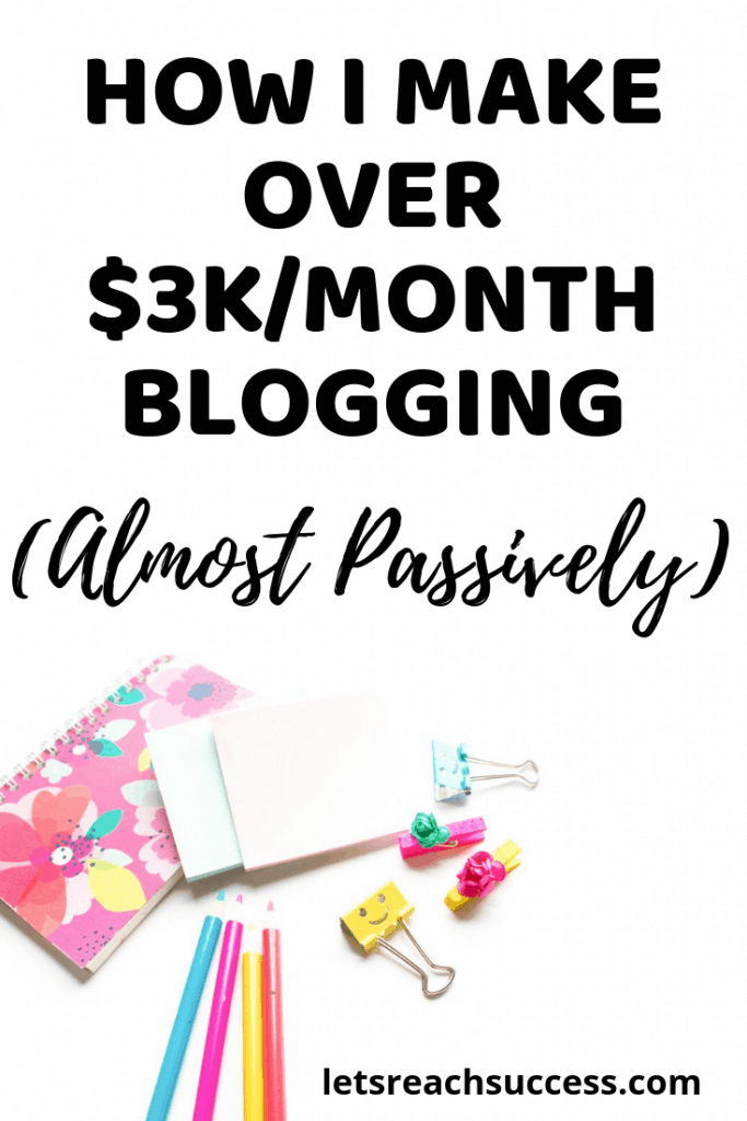 Want to make money blogging? Check out how this blogger earns between $3,000 and $5,000 every month blogging from home so you can do the same: #blogger #makemoneyonline #bloggingbusiness #monetizeyourblog