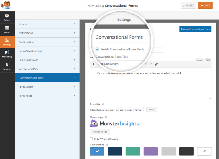 conversational forms wp forms