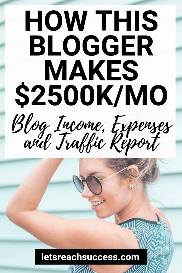 Learn how this blogger earned over $2500 in one month and made her pins go viral. Included is an expenses, traffic and content update. #makemoneyblogging #bloggingtips #incomereport #pinteresttips #pinterestforbloggers #makemoneyonline #viralpins