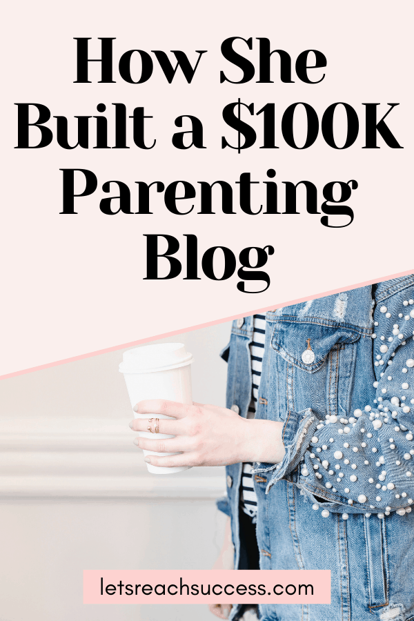 Learn how this mom of 2 built a blogging empire. See how she started and monetized her parenting blog to earn $100K/year: #parentingblogstofollow #parentingbloggers #parentingblogs #momblogideas #momblogs #mombloggers #makemoneyblogging