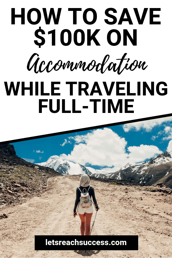 Want to travel the world and make a living on the road? It's absolutely possible! Check out the story of full-time traveler and travel blogger Nora Dunn from TheProfessionalHobo, who's saved over $100K on accommodation: #travelblogging #travelhacks #cheaptravel #travelonabudget #budgetroadtrip #sidehustleideas #makemoneyonline